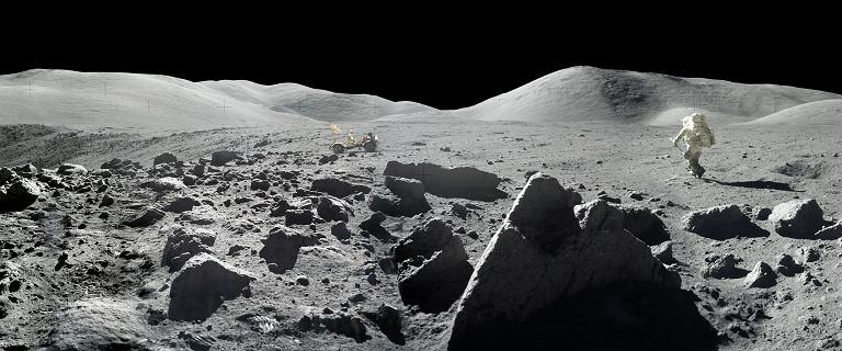 Oto niezwykłe panoramy NASA zrobione na Księżycu
