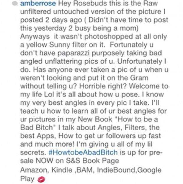 Amber Rose odpowiada hejterom