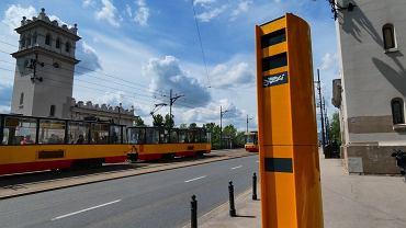 Zamazane (zdewastowane) nowo postawione fotoradary na moście Poniatowskiego