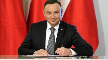 Prezydent Andrzej Duda podpisał ustawę o zakazie handlu w niedziele. Warszawa, 30 stycznia 2018