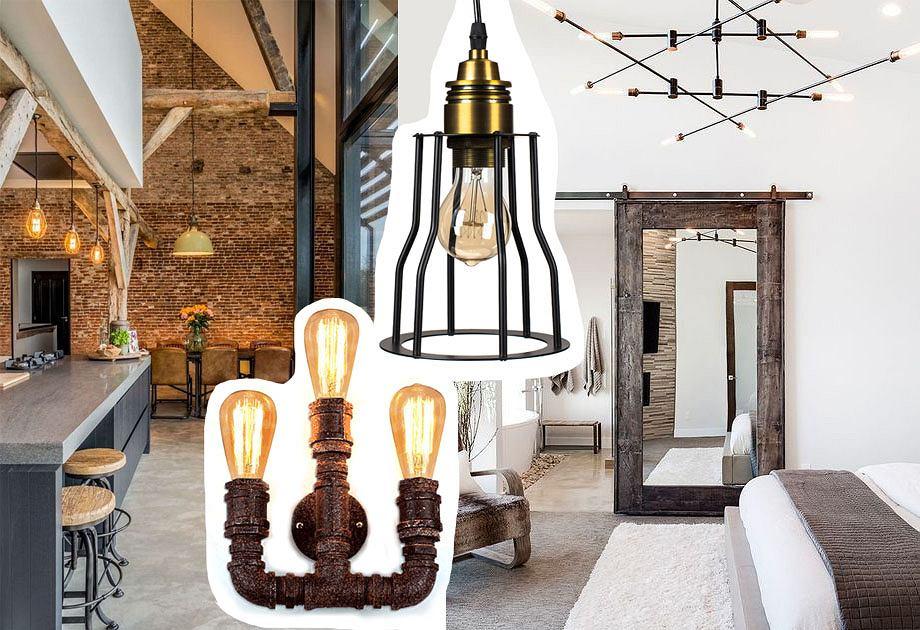 Lampy w industrialnym stylu