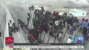 Materiał o uchodźcach w TVP Info