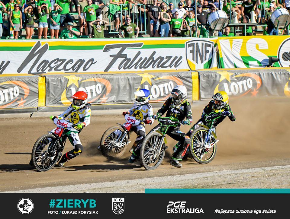 Pierwszy mecz rundy rewanżowej PGE Ekstraligi 2020. Falubaz Zielona Góra na własnym torze pokonał ROW Rybnik wynikiem 57:33 (fot. Łukasz Forysiak/PGE Ekstraliga)