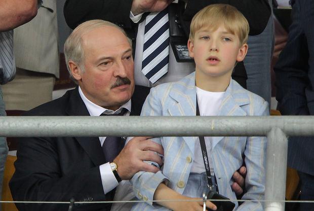 Aleksandr Łukaszenka z synem