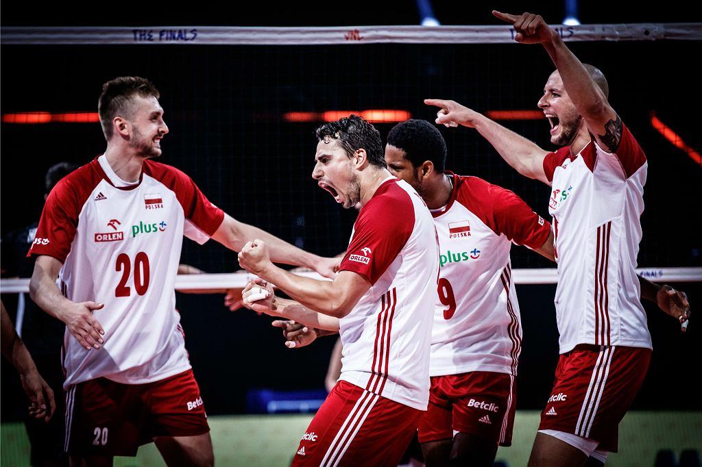 Polska - Słowenia 3:0. Mateusz Bieniek, Fabian Drzyzga, Wilfredo Leon, Bartosz Kurek