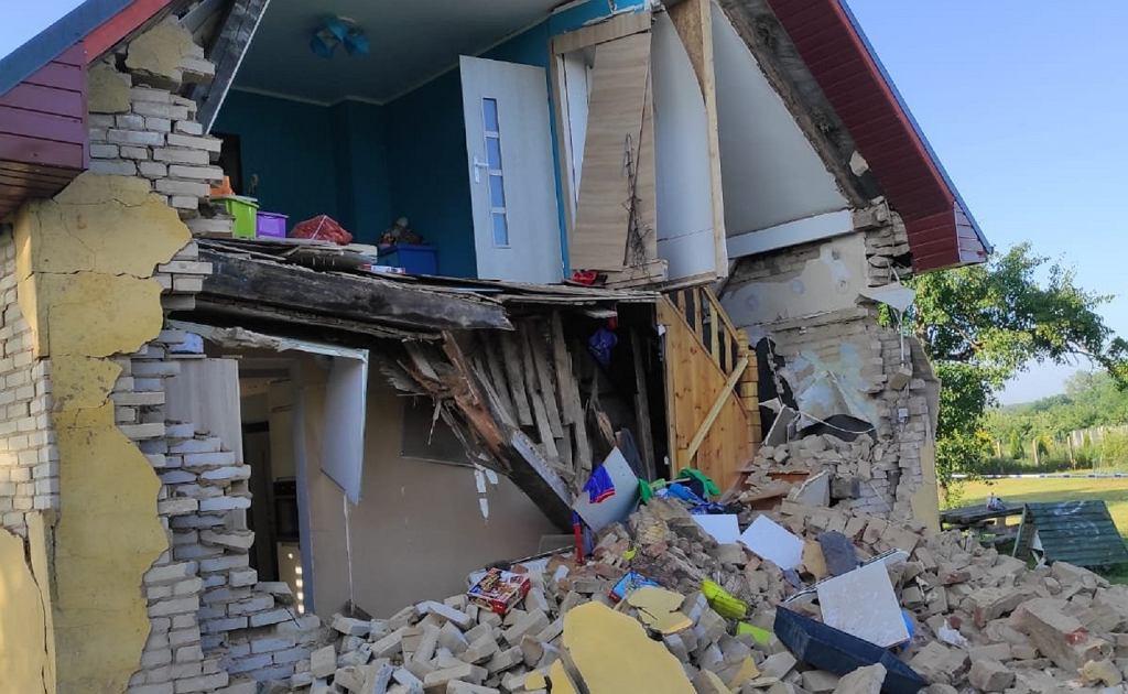 Wybuch w domu jednorodzinnym w Sosnowie
