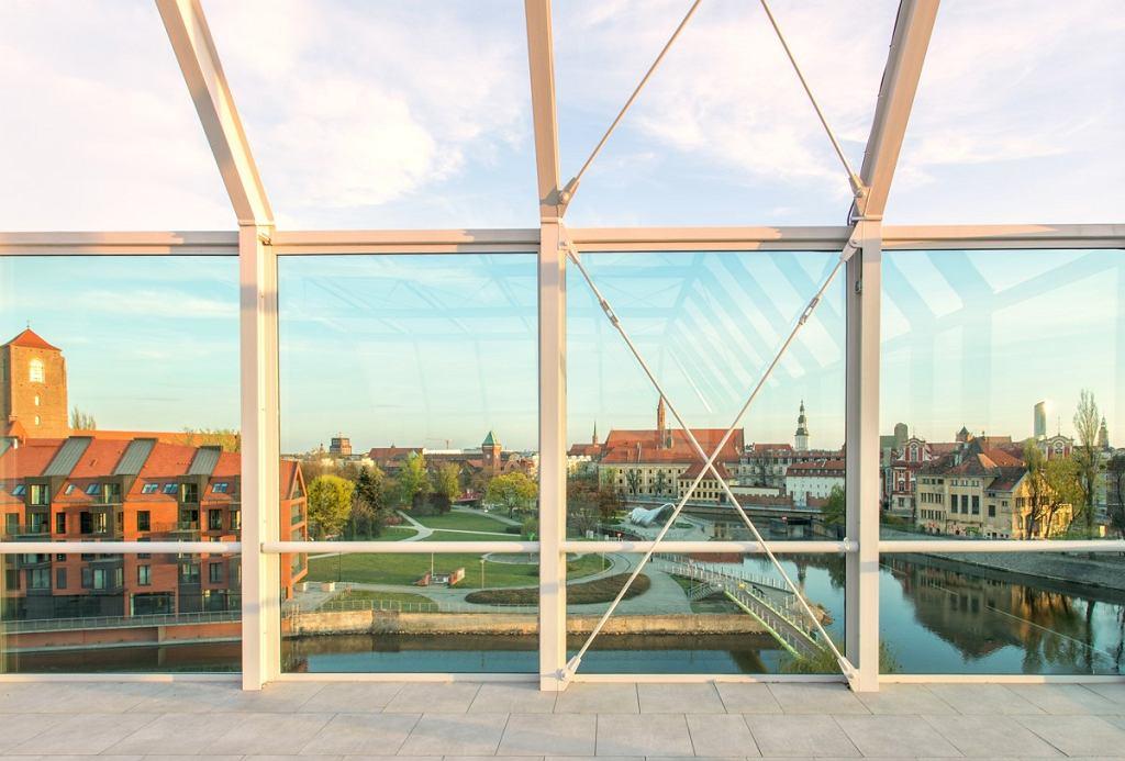 Widok z budynku Concordia Design