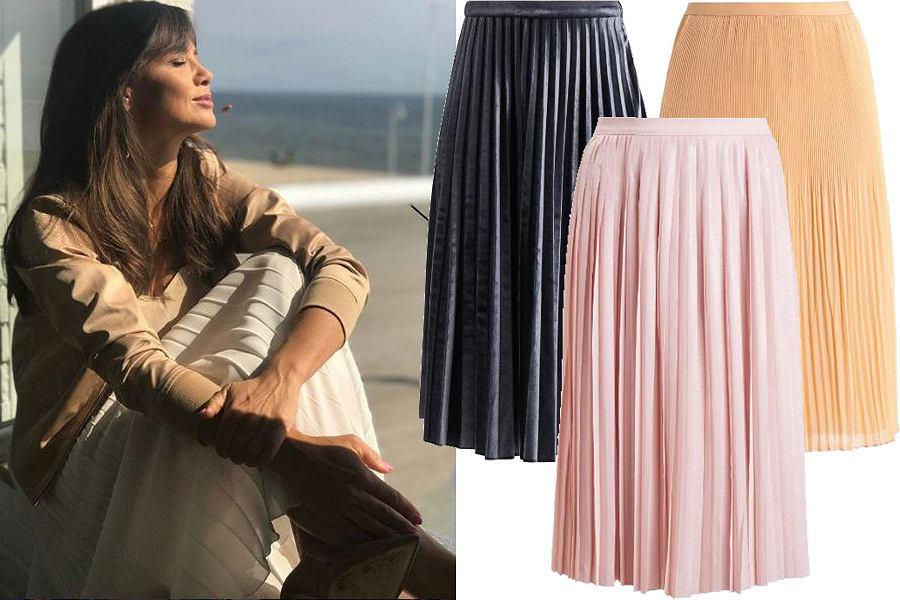 Kolaż, plisowane spódnice/Materiały partnera