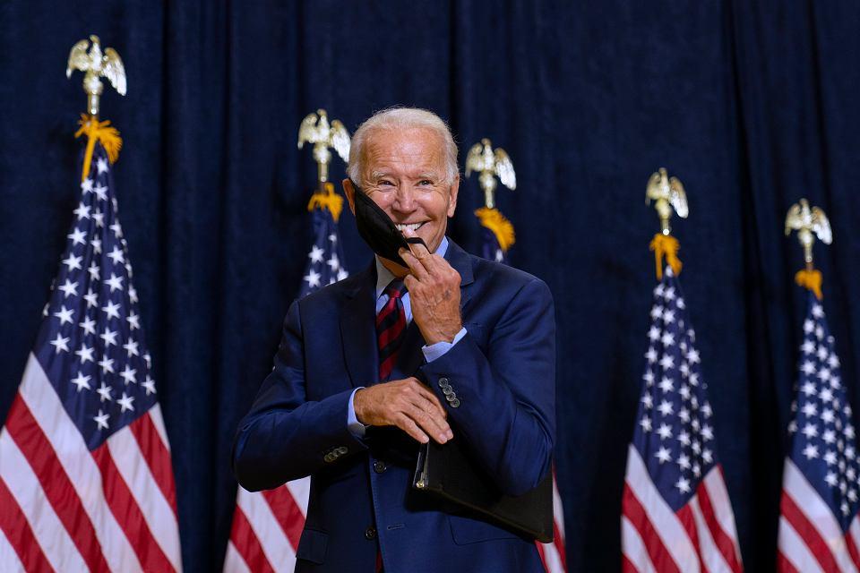 USA. Joe Biden kandydat na prezydenta Stanów Zjednoczonych podczas kampanii wyborczej.