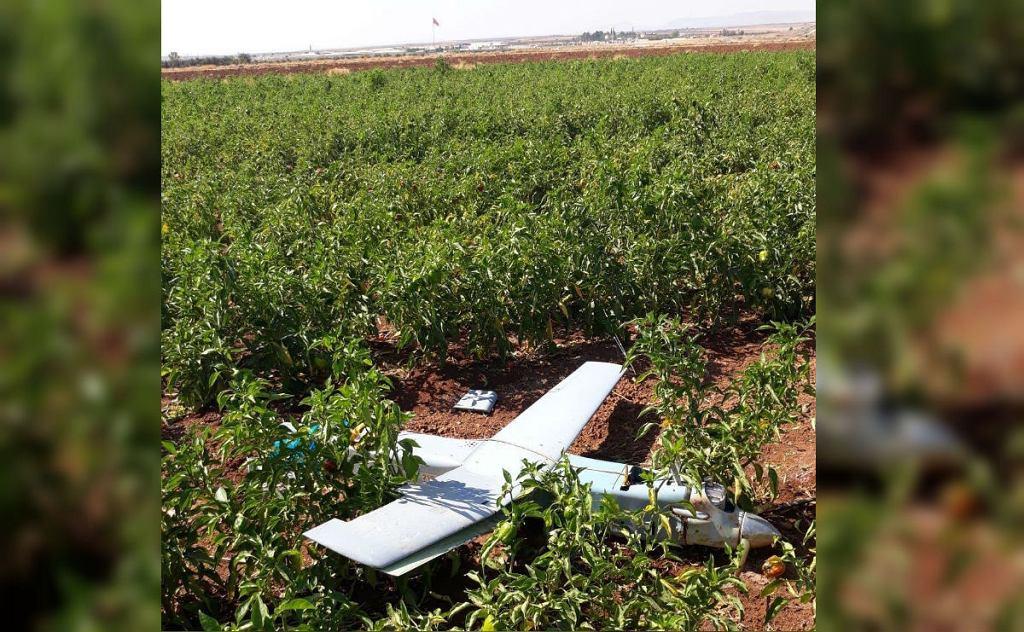 Dron zestrzelony przez Turcję przy granicy z Syrią