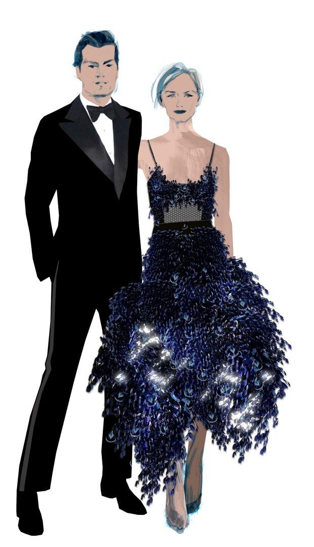 Amber Valletta w sukni H&M - projekt na Met Gala 2016