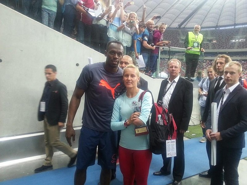 Alicja Fiodorow i Usain Bolt
