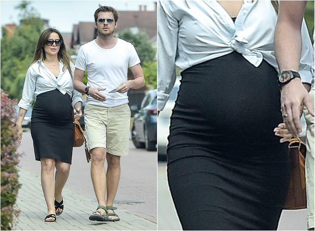 Zdjęcie numer 6 w galerii - Marta Żmuda Trzebiatowska w 7. miesiącu ciąży. Brzuch jest ogromny, ale spójrzcie na figurę!