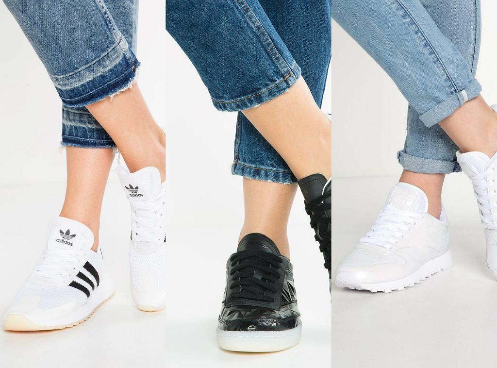 Czarne i białe buty sportowe