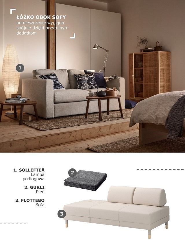 Sypialnia i salon w jednym