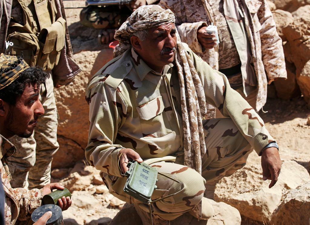 Żołnierze jemeńskiej armii rządowej