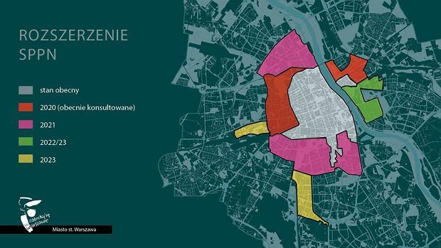 Покрытие и этапы расширения зоны платной парковки