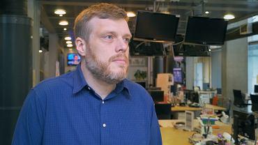 Adrian Zandberg w redakcji TOK FM