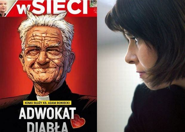 Okładka ''WSieci'' i Katarzyna Kolenda-Zaleska