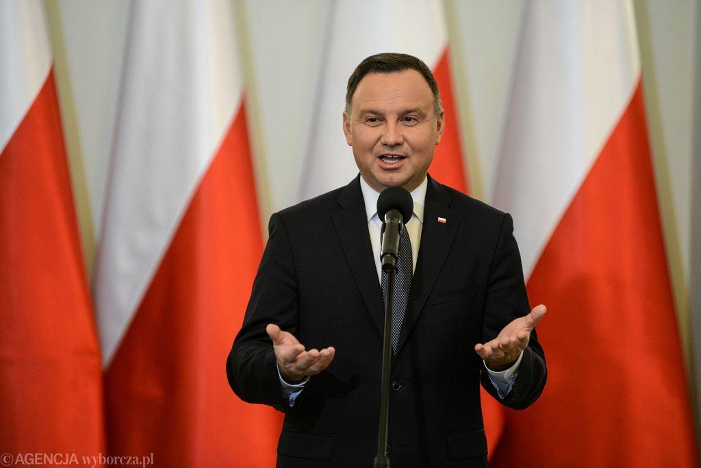 Prezydent Andrzej Duda. Warszawa, Pałac Prezydencki, 18 stycznia 2019