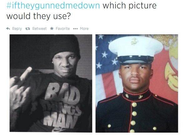 Zdjęcia z hashtagiem #IfTheyGunnedMeDown