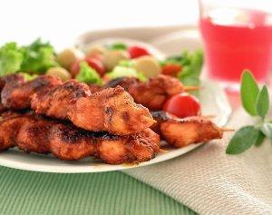 Szaszłyki z kurczakiem w sosie słodko-kwaśnym