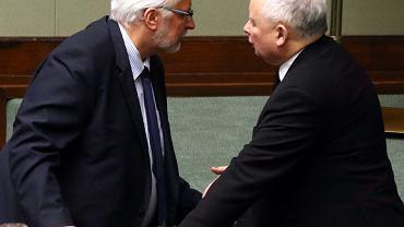 Minister Witold Waszczykowski i prezes Jarosław Kaczyński (fot. Sławomir Kamiński/AG)