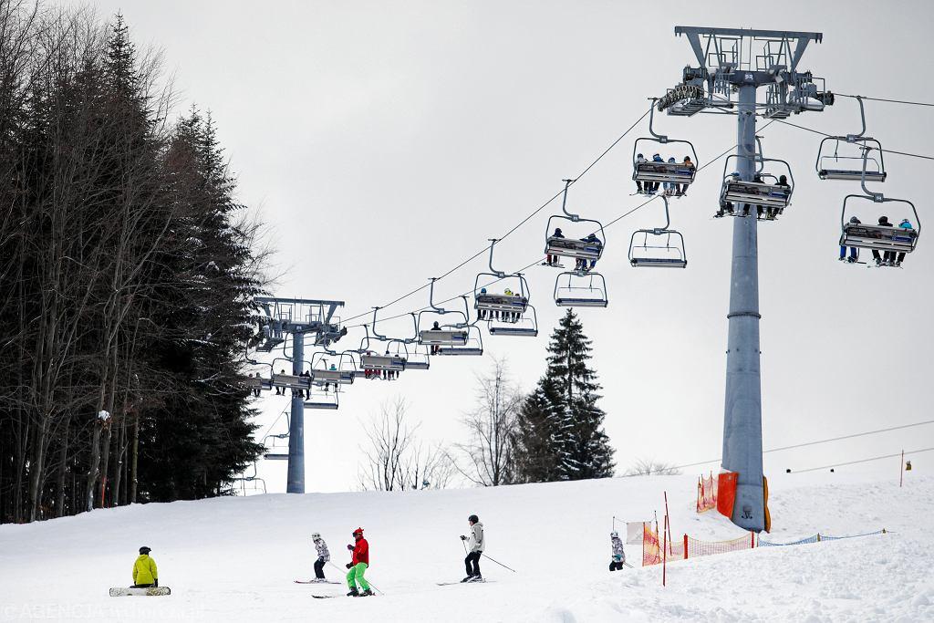 Ośrodek i stok narciarski Czarny Gron. Rzyki, 1 lutego 2019