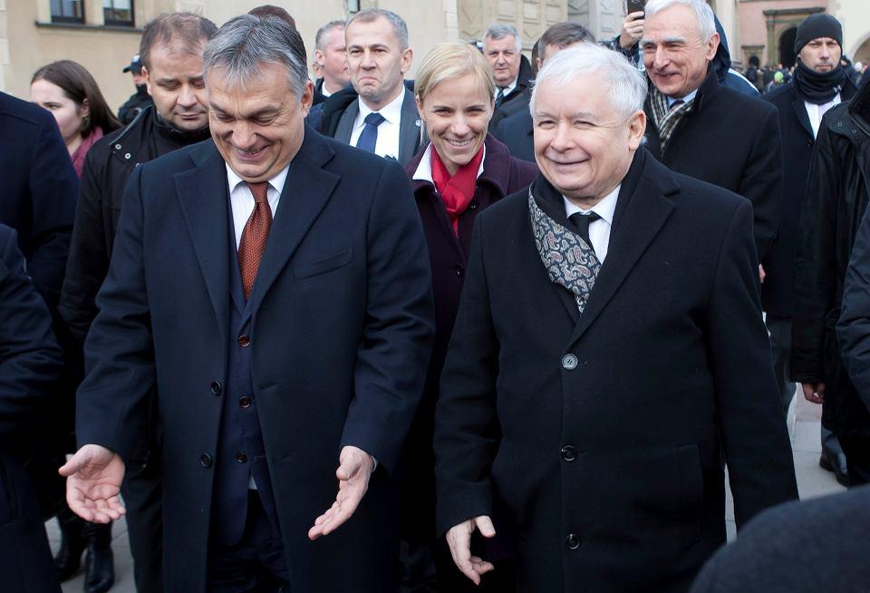 Wiktor Orban i Jarosław Kaczyński.