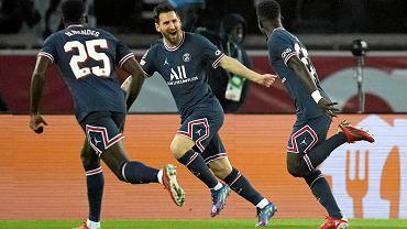 Leo Messi i Idrissa Gueye, strzelcy goli w meczu PSG - Manchester City