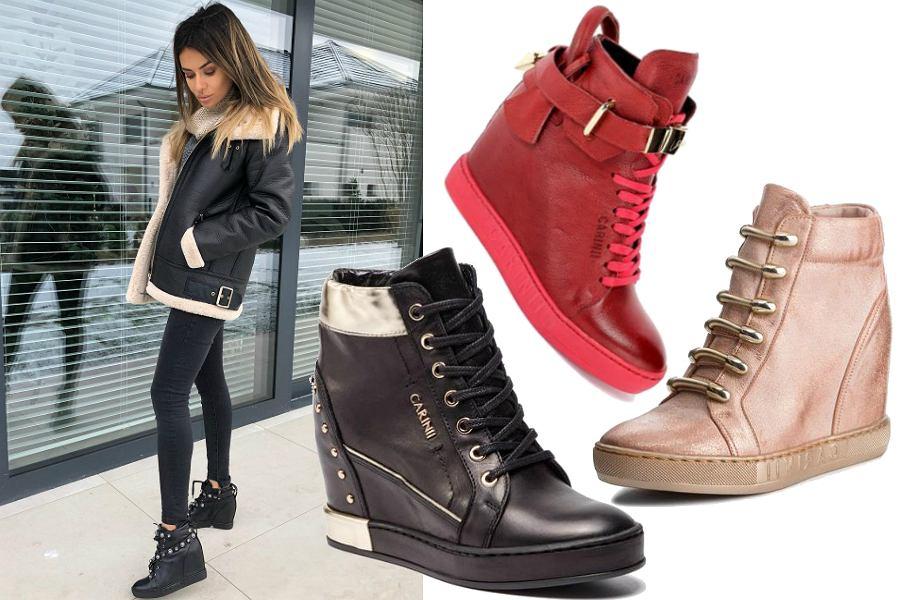 Popularne modele sneakersów na koturnie | Perfekcyjna Kobieta