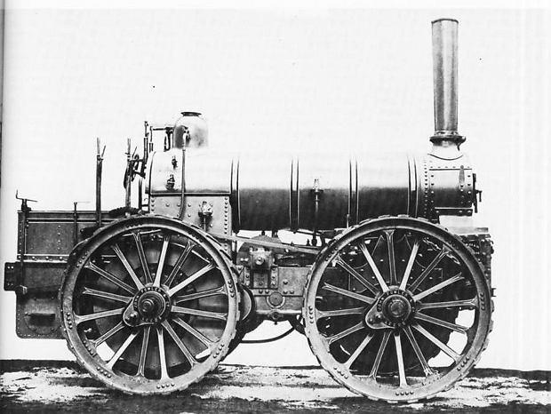 Lokomobila parowa Fowlera z napędem 4x4