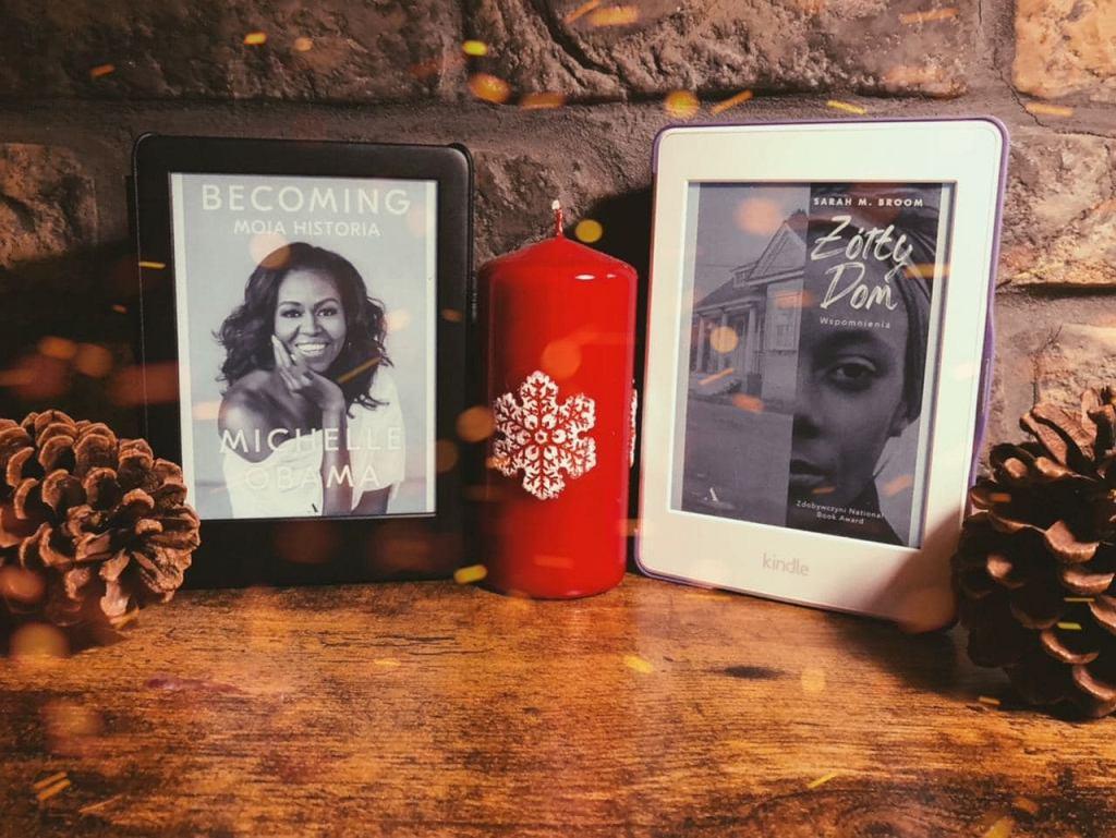 Książki 'Becoming' i 'Żółty dom' w formie e-booków
