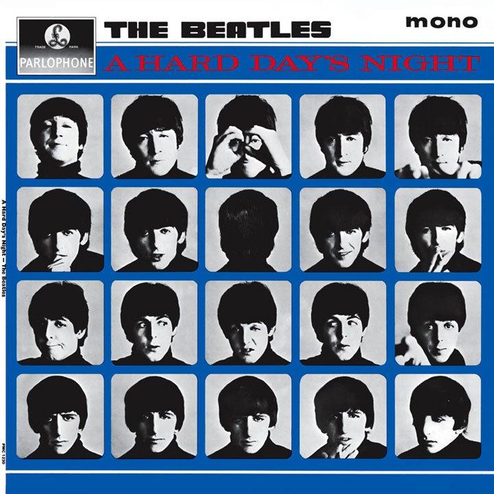 Okładka albumu 'A Hard Day's Night'