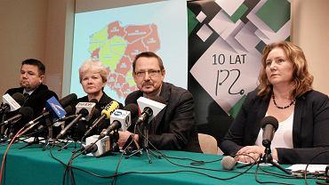 Przedstawiciele Porozumienia Zielonogórskiego
