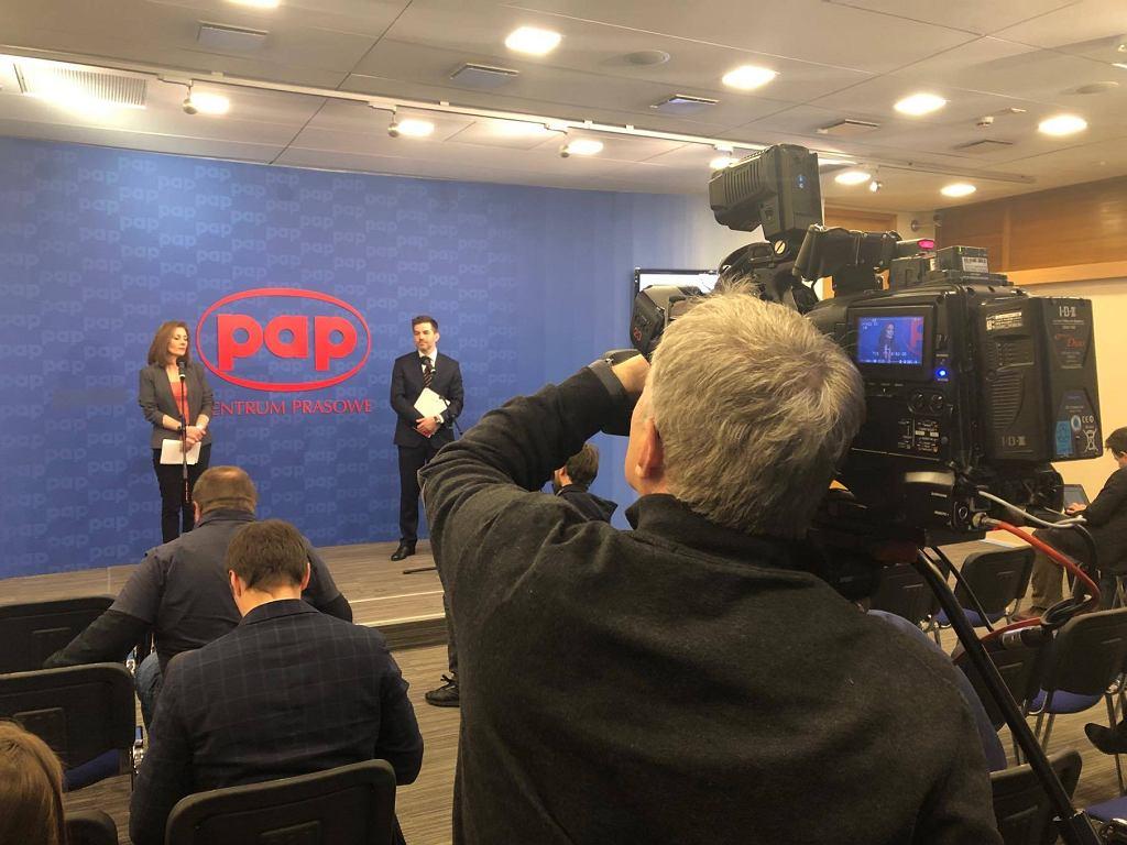 Edyta Bielak-Jomaa, prezes UODO, podczas konferencji poświęconej pierwszej karze nałożonej za złamanie przepisów RODO