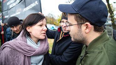 Kaja Godek i Bart Staszewski podczas Marszu Równości w Lublinie.