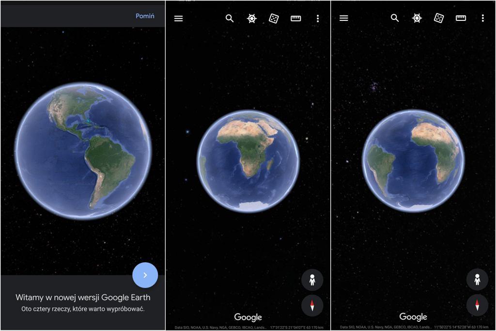 Nowy Google Earth na smartfonach i tabletach