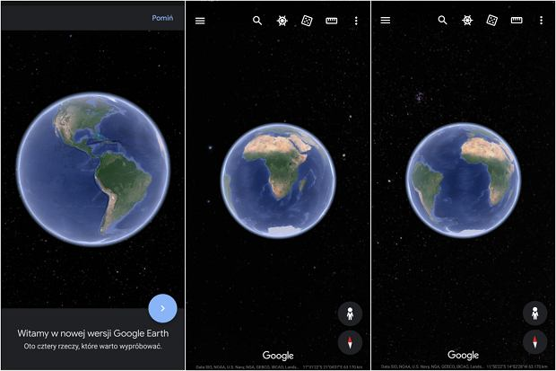 Nowy Google Earth na smartfonach i tabletach
