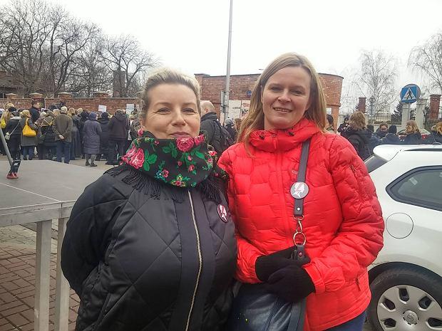 Kobiety protestują w Warszawie