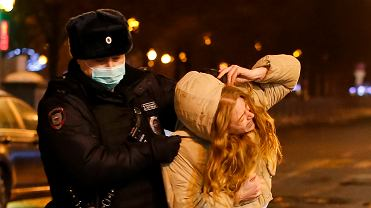 Jedno z wielu zatrzymań w Moskwie, 23 stycznia 2020 r.