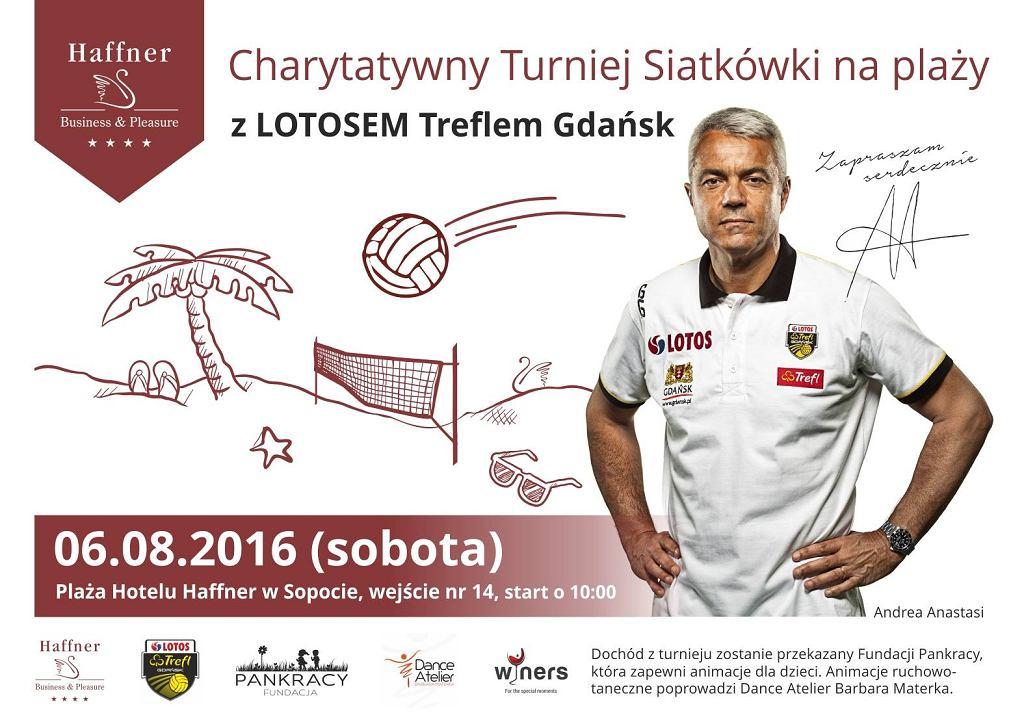 Charytatywny Turniej Siatkówki Plażowej z Lotosem Treflem Gdańsk