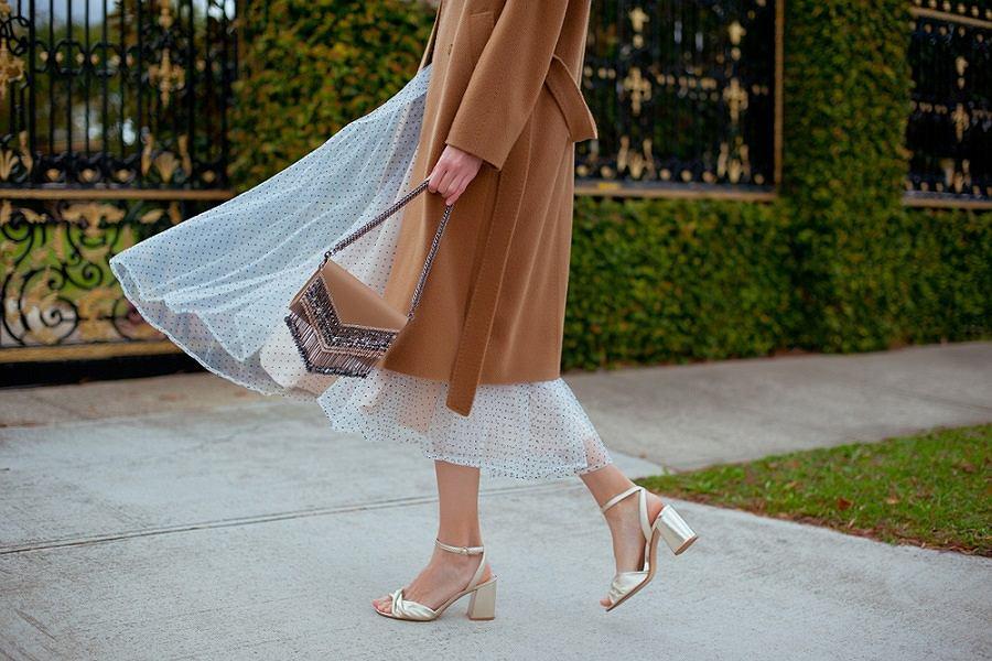 Eleganckie sandały na obcasie