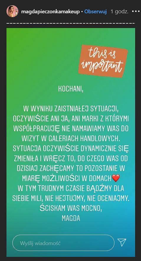 Magda Pieczonka na Instagramie
