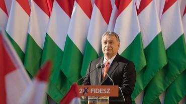 Viktor Orban podczas wiecu Fideszu