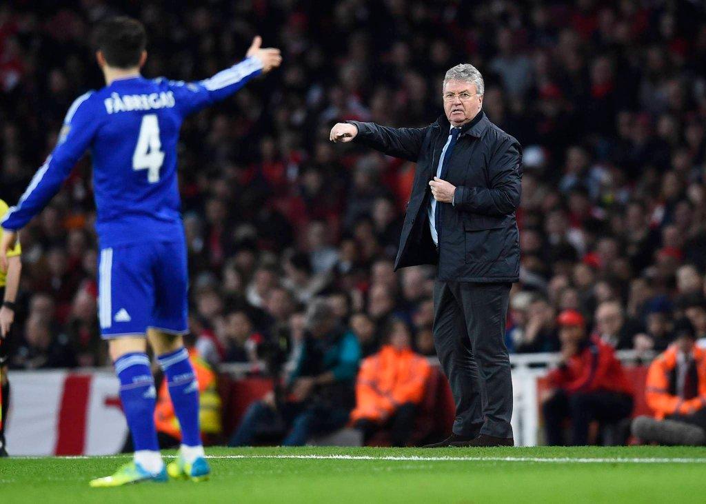 Cesc Fabregas w meczu z Arsenalem