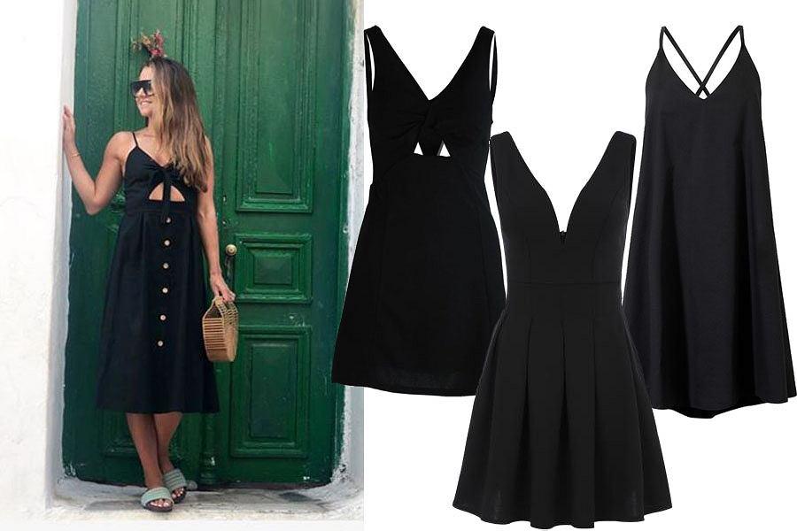 czarna sukienka/mat. partnera