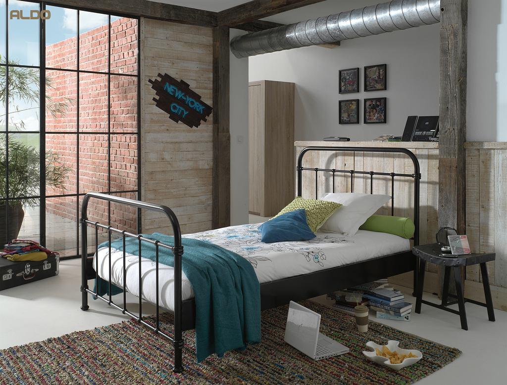 Łóżko metalowe - idealne do pokoju nastolatka