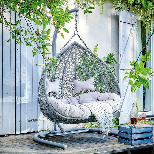 Wiszący fotel ogrodowy dla dwóch osób