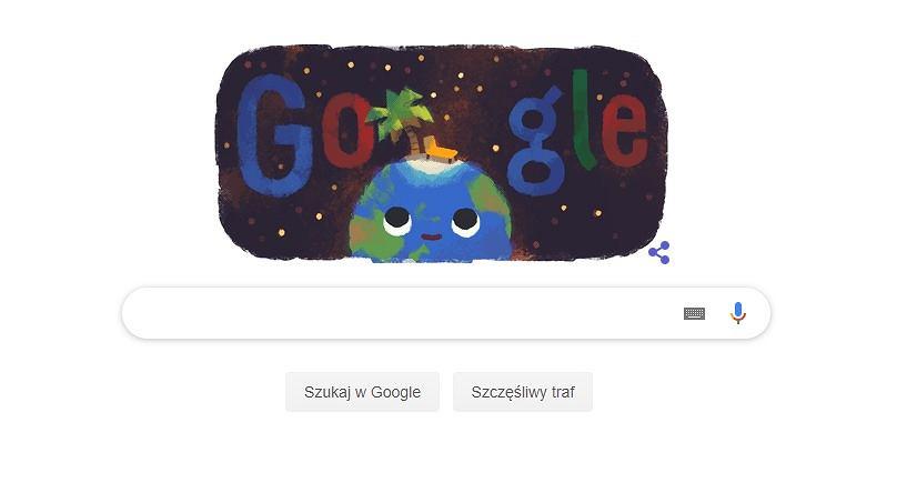 Google Doodle na pierwszy dzień astronomicznego lata